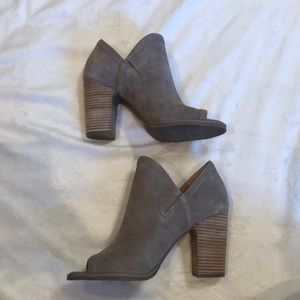 Lucky Brand open toe booties
